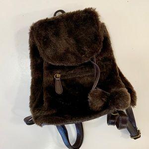 Handbags - Small Fuzzy Backpack